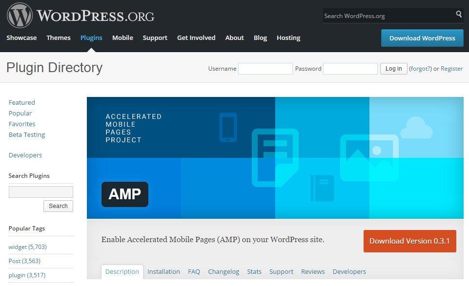 WordPress Repo AMP Plugin