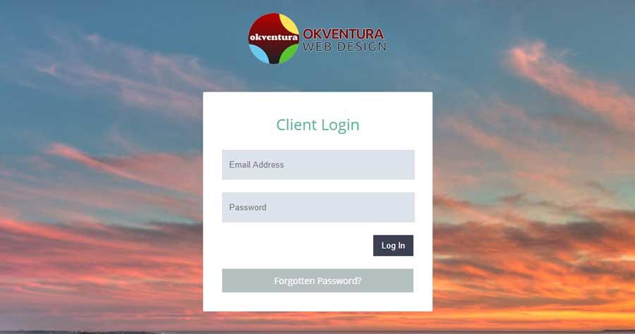 Okventura-Client-Portal-Login-Screen