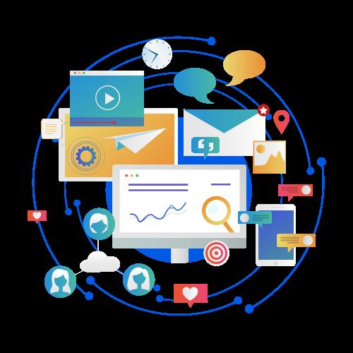 Comprehensive online presence